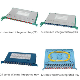 Splicing and Distribution Module/Fiber Optic Integration Splice Tray